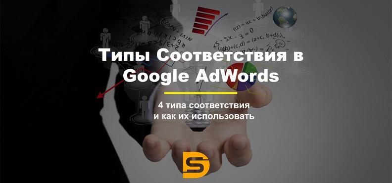 Типы соответствия (модификаторы) гугл рекламы